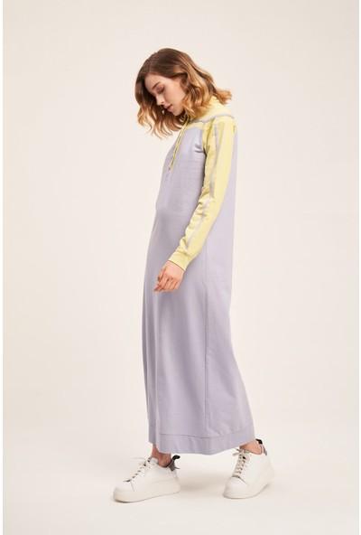 Mizalle Iki Iplik Polo Elbise (F. Yeşili)