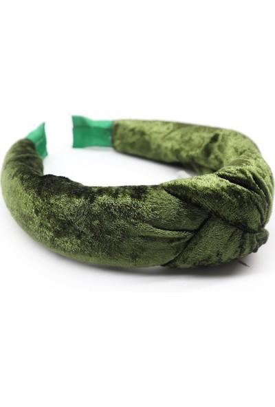 Ya Motta Kadifem Yeşil - Düğüm Detay Kadın Taç