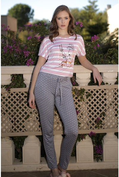 İbiza 4076 Kadın Penye Pijama Takım