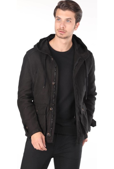 Markapia Denim Ceket Siyah XL