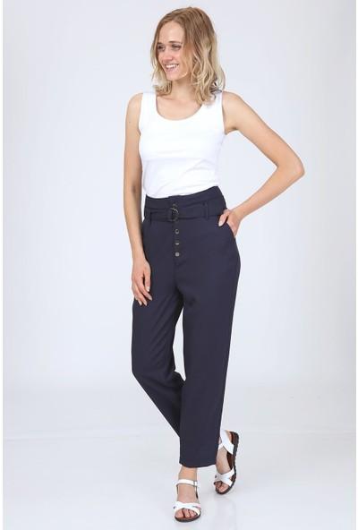 Giysimburada Düğmeli Kemerli Pantolon