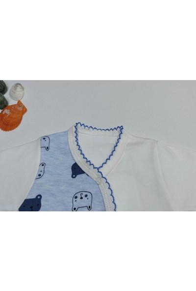 Hapşıı Kids Berço Şapkalı Erkek Bebek Zıbın Takımı