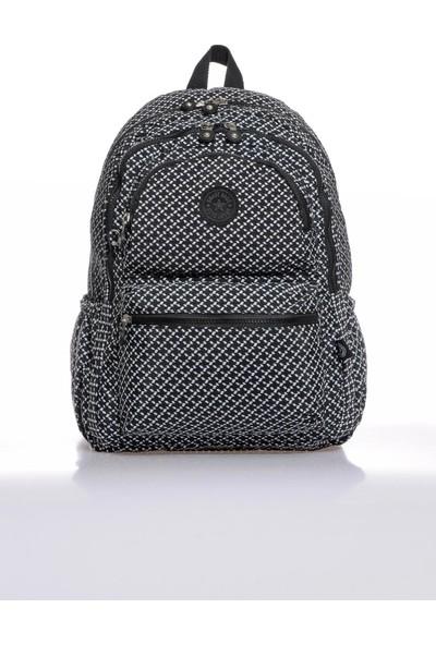 Smart Bags SMB1050-0127 Siyah/beyaz Kadın Sırt Çantası