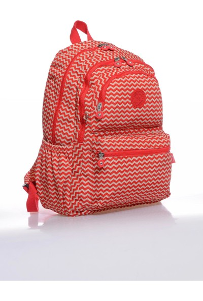 Smart Bags SMB1050-0134 Kırmızı/bej Kadın Sırt Çantası