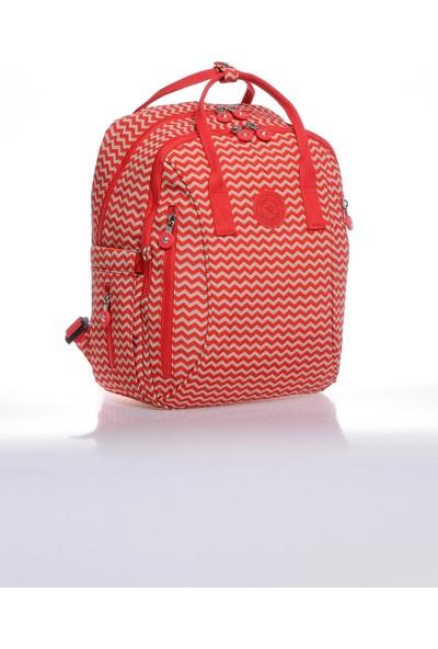 Smart Bags SMB1220-0134 Kırmızı/bej Kadın Sırt Çantası