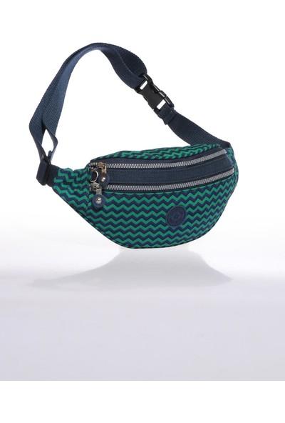 Smart Bags SMB3030-0066 Lacivert/yeşil Kadın Bel Çantası