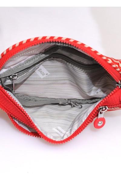 Smart Bags SMB3030-0134 Kırmızı/bej Kadın Bel Çantası