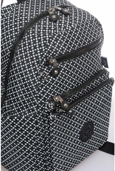Smart Bags SMB3068-0127 Siyah/beyaz Kadın Sırt Çantası