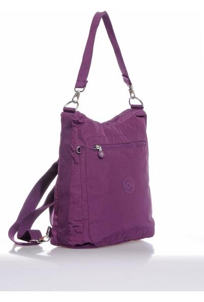 Smart Bags SMB3069-0027 Mor Kadın Omuz ve Sırt Çantası