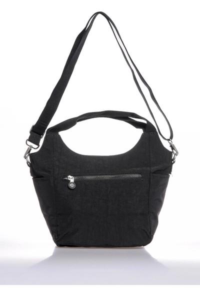Smart Bags SMB3079-0001 Siyah Kadın Omuz Çantası