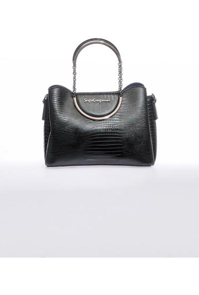 Sergio Giorgianni Luxury SG0715 Siyah Kadın Omuz Çantası
