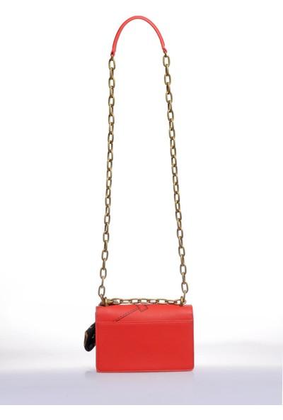 Versace J. Couture E1 Vzaba2 Kırmızı Kadın Omuz Çantası