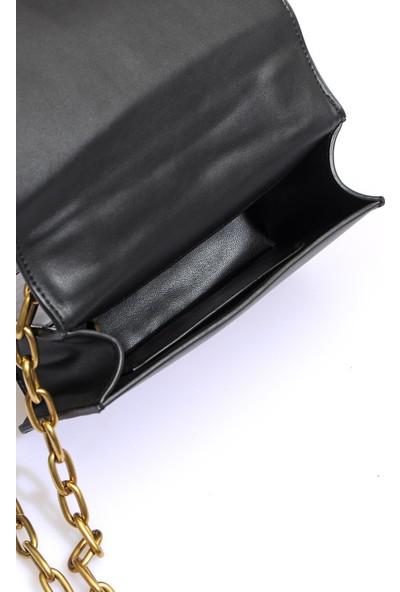 Versace J. Couture E1 Vzaba2 Siyah Kadın Omuz Çantası