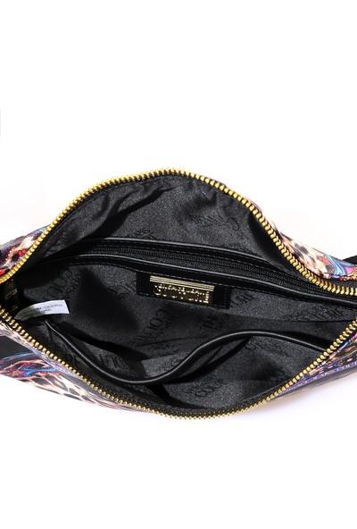 Versace J. Couture E1 Vzabc3 Leopar Kadın Bel Çantası