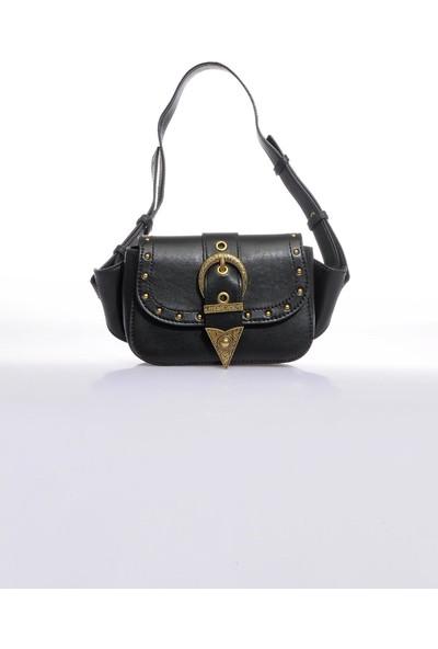 Versace J. Couture E1 Vzabd3 Siyah Kadın Bel Çantası