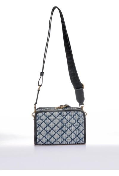 Versace J. Couture E1 Vzabq2 Mavi Kadın Omuz Çantası