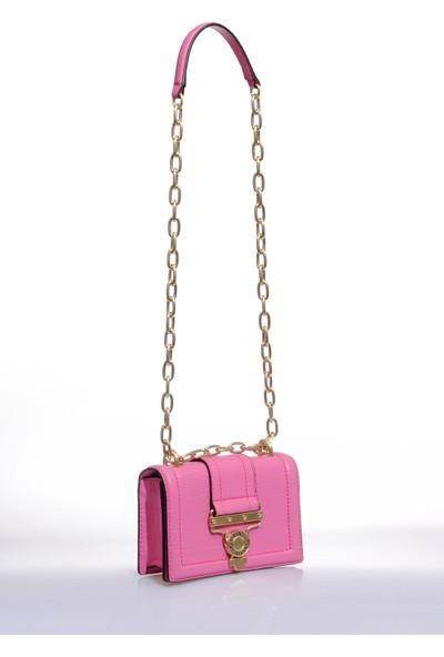 Versace J. Couture E1 Vzabs1 Pembe Kadın Omuz Çantası