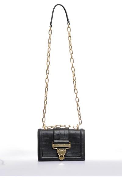 Versace J. Couture E1 Vzabs1 Siyah Kadın Omuz Çantası