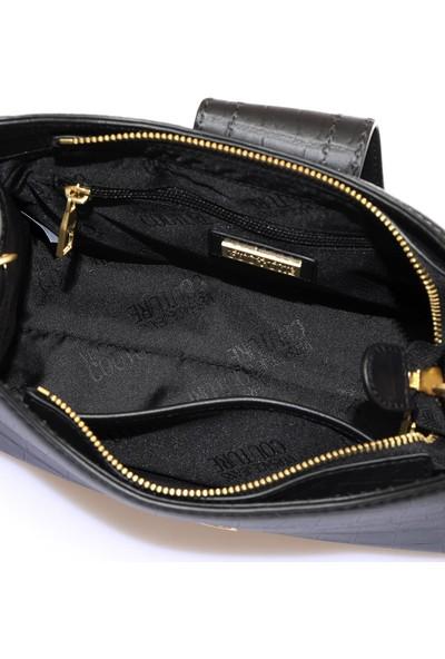 Versace J. Couture E1 Vzabs5 Siyah Kadın Omuz Çantası