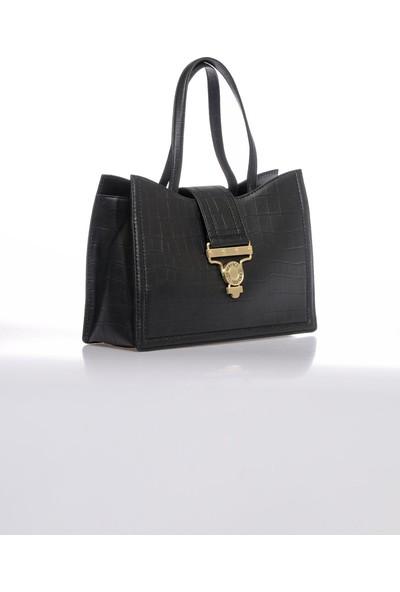 Versace J. Couture E1 Vzabs7 Siyah Kadın Omuz Çantası