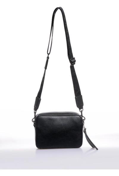 Versace J. Couture E1 Vzbbe2 Siyah Kadın Omuz Çantası