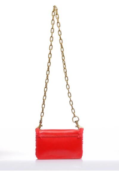 Versace J. Couture E1 Vzbbm2 Kırmızı Kadın Omuz Çantası