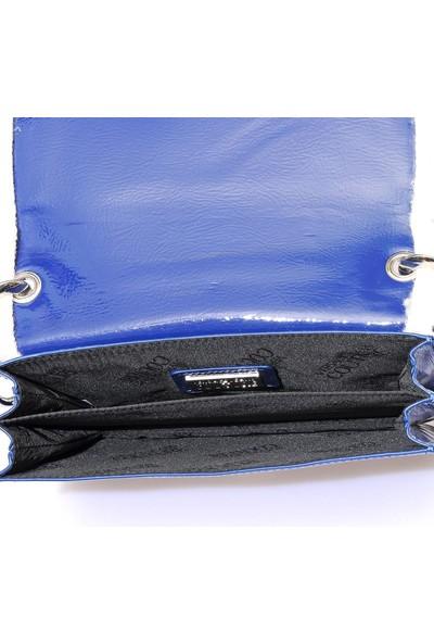Versace J. Couture E1 Vzbbm2 Mavi Kadın Omuz Çantası