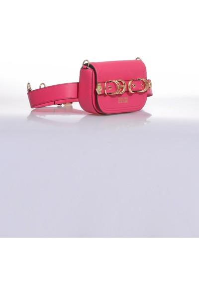 Versace J. Couture E1 Vzbbn1 Pembe Kadın Omuz Çantası