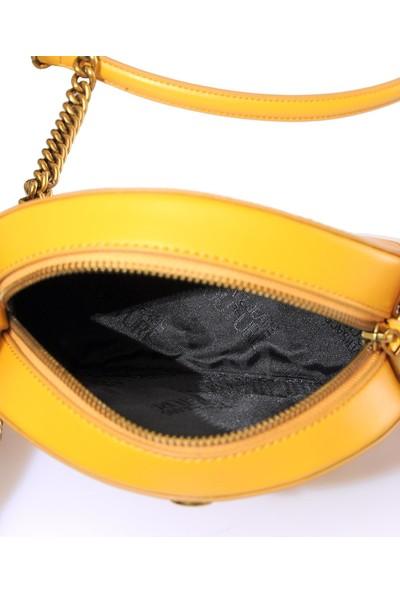 Versace J. Couture E1 Vzbbo3 Sarı Kadın Omuz Çantası