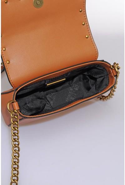 Versace J.couture E1 Vzabd4 Camel Kadın Omuz Çantası