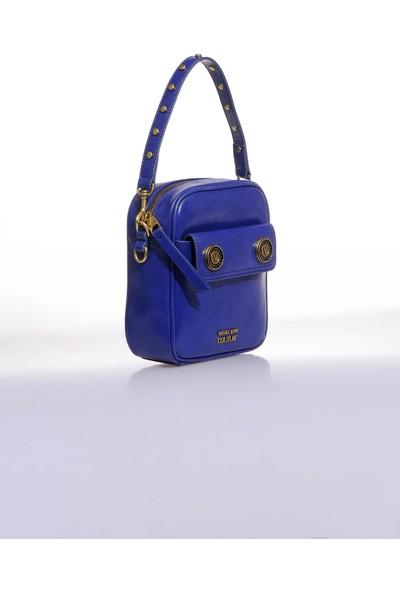 Versace J.couture E1 Vzbbk2 Mavi Kadın Omuz Çantası