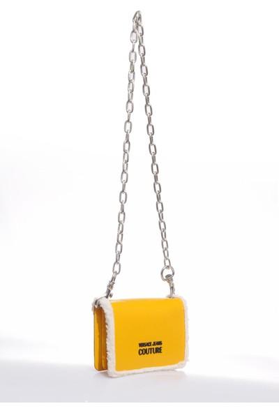 Versace J.couture E1 Vzbbm2 Sarı Kadın Omuz Çantası