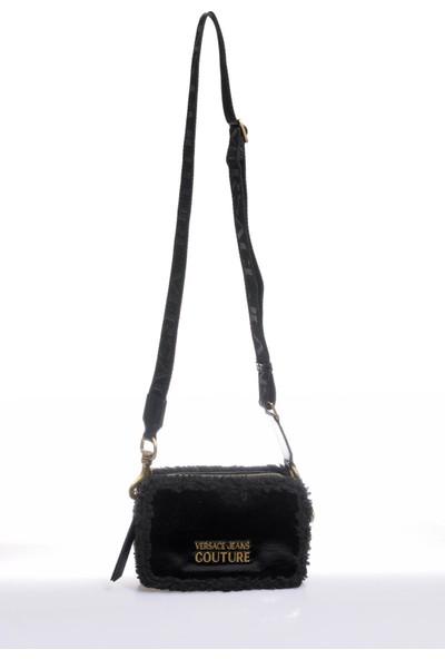 Versace J.couture E1 Vzbbm3 Siyah Kadın Omuz Çantası