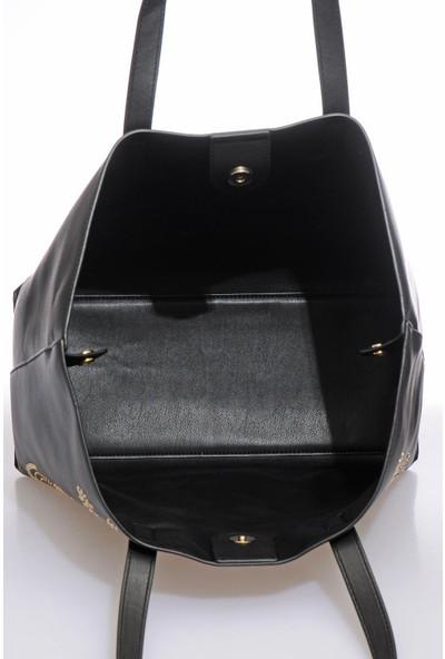 Versace J.couture E1 Vzabb9 Siyah Kadın Omuz Çantası