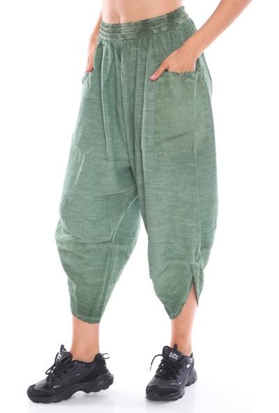 Alışveriş Sokağı Etnik Tasarım Derin Cep Detaylı Şalvar Pantolon