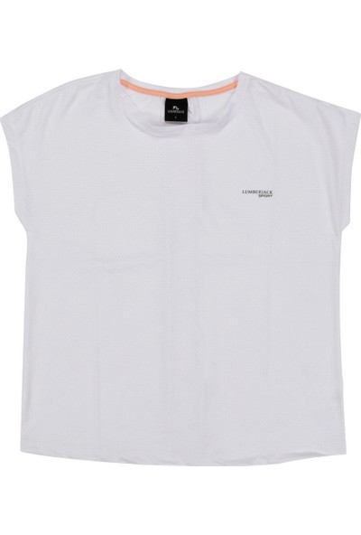 Lumberjack W-1827 Tybalt Kk T-Shirt Beyaz Kadın T-Shirt