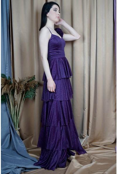 SpringStore Violet İp Askılı Kat Kat Abiye