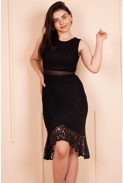 SpringStore Siyah Kısa Mezuniyet Elbisesi