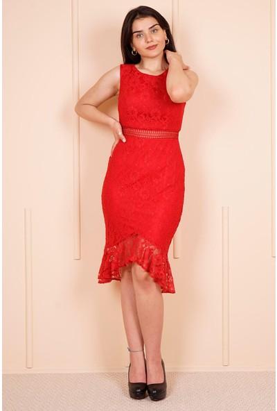 SpringStore Kırmızı Kısa Mezuniyet Elbisesi
