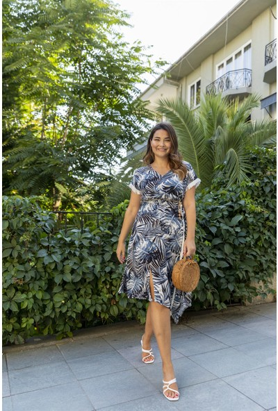 SpringStore Palmiye Desenli Elbise