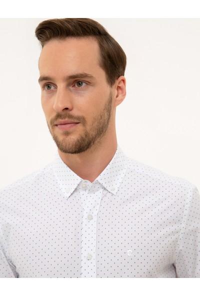 Pierre Cardin Erkek Beyaz Gömlek Uzunkol 50227394-VR013