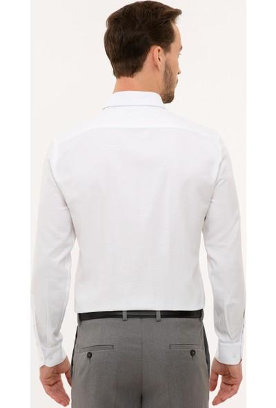 Pierre Cardin Erkek Beyaz Gömlek Uzunkol 50227482-VR013