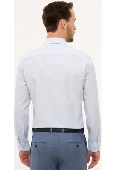 Pierre Cardin Erkek Mavı Gömlek Uzunkol 50227483-VR003