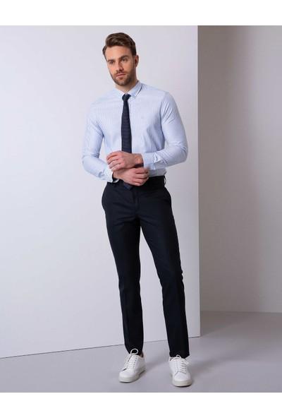 Pierre Cardin Erkek Slim Mavi Gömlek 50209454-VR036
