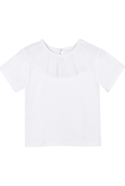 Allyboom Tüllü Pembe Kız Çocuk T Shirt 4 - 5 Yaş
