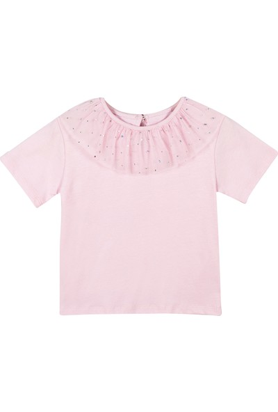 Allyboom Tüllü Pembe Kız Çocuk T Shirt 2 - 3 Yaş