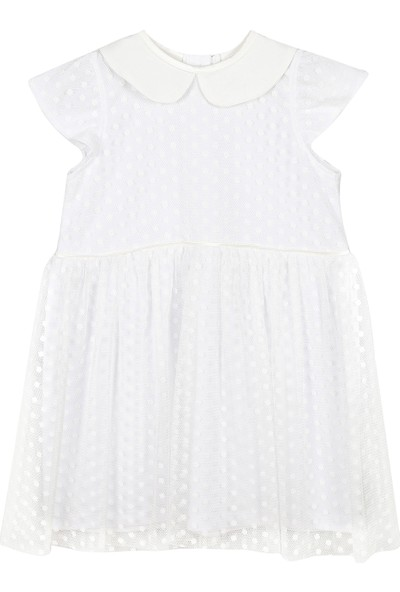 Allyboom Puanlı Beyaz Tüllü Prenses Elbisesi 3 - 4 Yaş