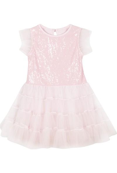 Allyboom Payetli, Tüllü Fuşya Kız Çocuk Doğum Günü Elbisesi 1 - 2 Yaş