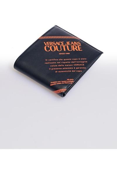 Versace J. Couture E3 Yzapa1 Siyah Yazılı Erkek Cüzdan