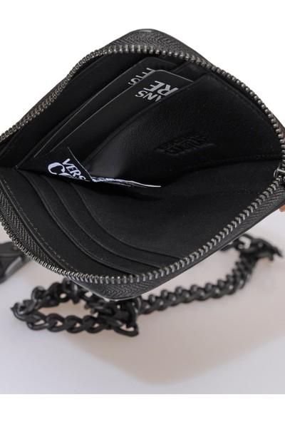 Versace J. Couture E3 Yzapa3 Siyah Erkek Kartlık